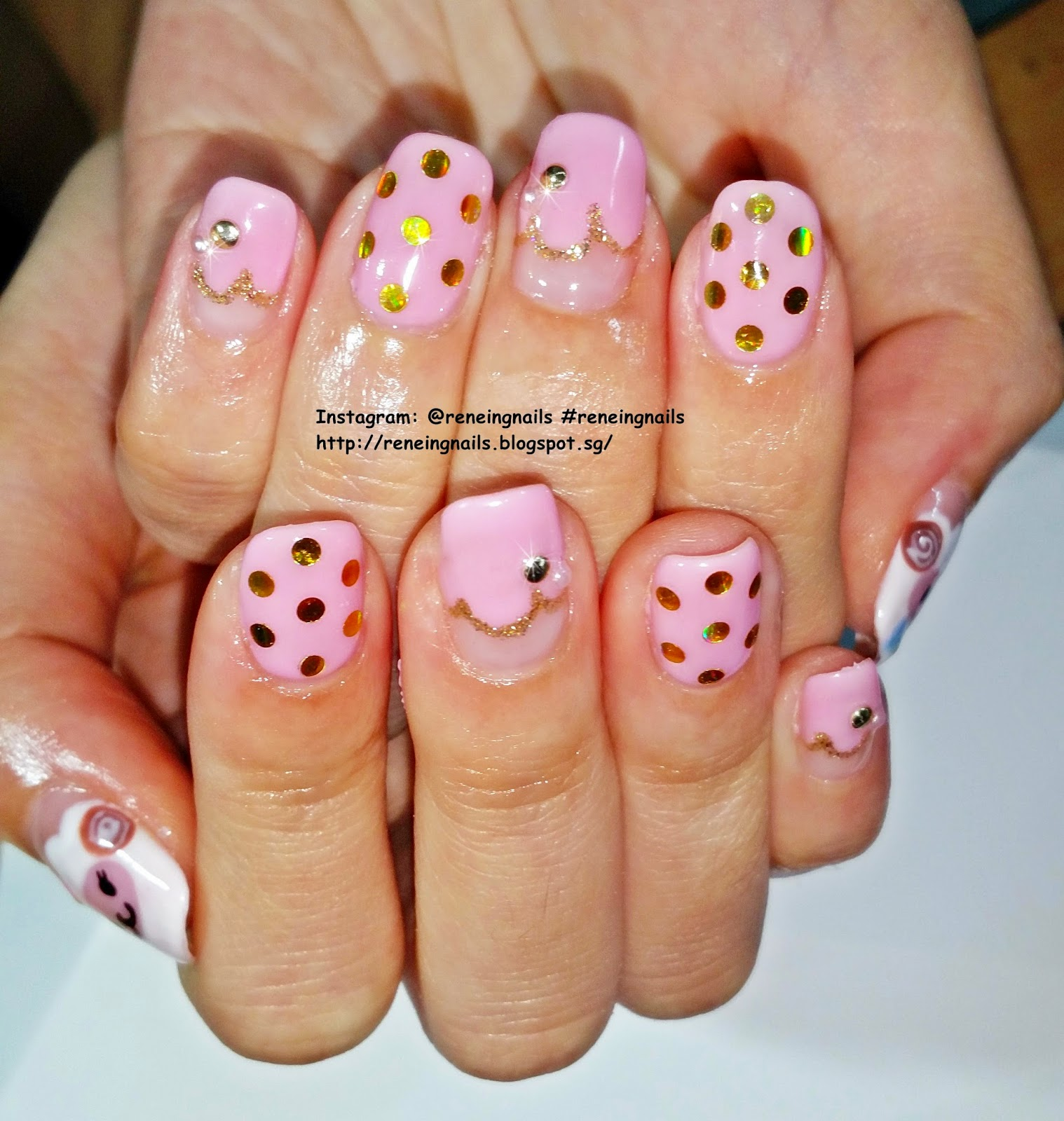 Reneing.Nails: N31460: Chinese new year 2015 nails for Kelly!