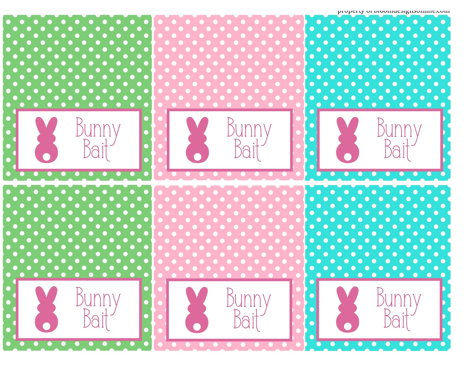 Bewitching image inside bunny bait printable