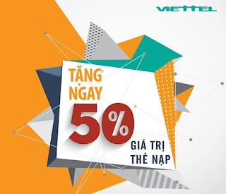 Khuyến mãi 50% giá trị thẻ nạp Viettel ngày 14/11/2015