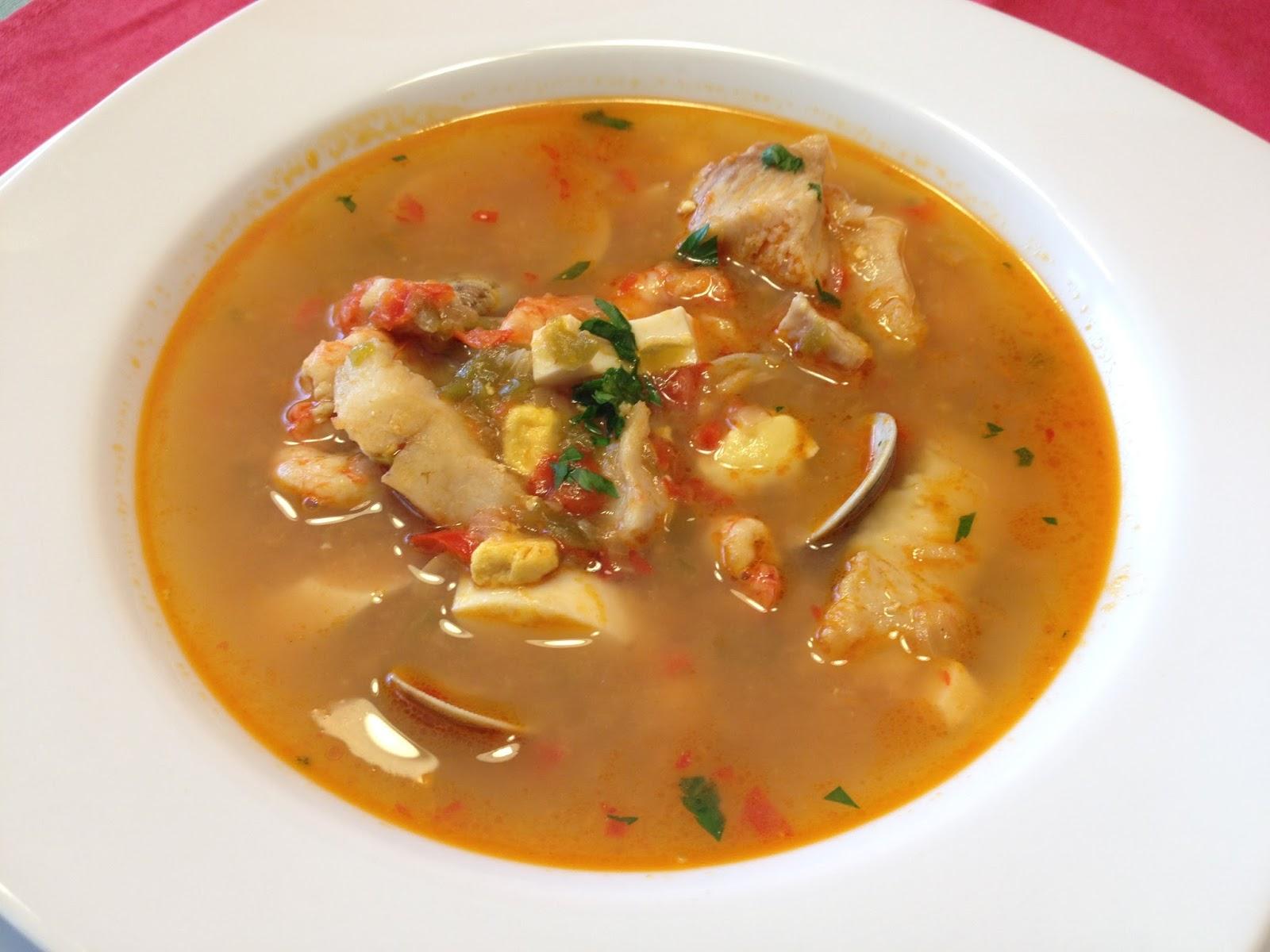 La cocina de casa sopa de pescado receta de navidad - Sopa de marisco y pescado ...