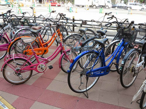 Bicycle Parking At Tennoji Station