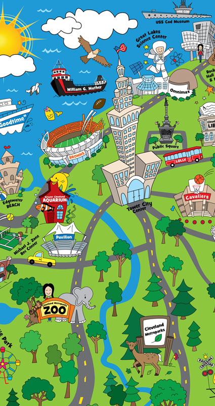 Broken box designs illustration design beyond the map features over 30 of clevelands most well known child friendly attractions and locations such as our wonderful zoo here in cleveland the aquarium gumiabroncs Image collections
