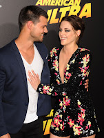 Taylor Lautner joins Kristen Stewart at her 'American Ultra' premiere in Los Angeles