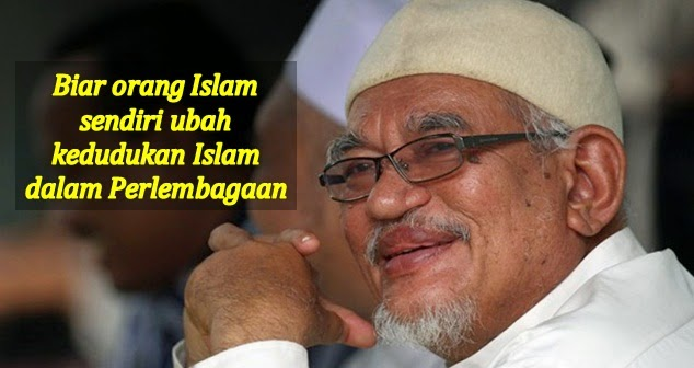 Biar orang Islam sendiri ubah kedudukan Islam dalam Perlembagaan