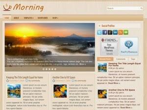 Morning - Free Wordpress Theme