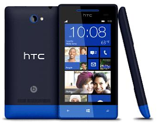 HTC Windows phone in Blue