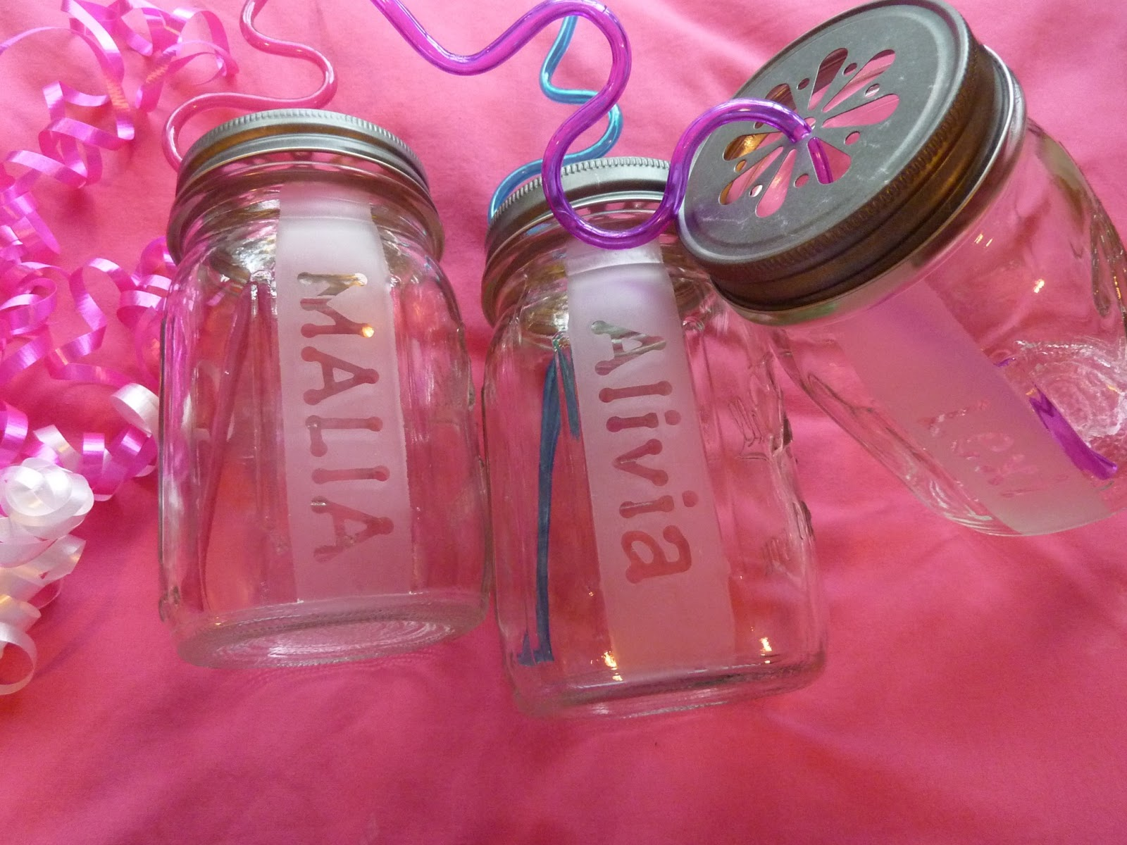 I Blame My Mother: DIY Etched Mason Jars - Sleepover Party Favors ...