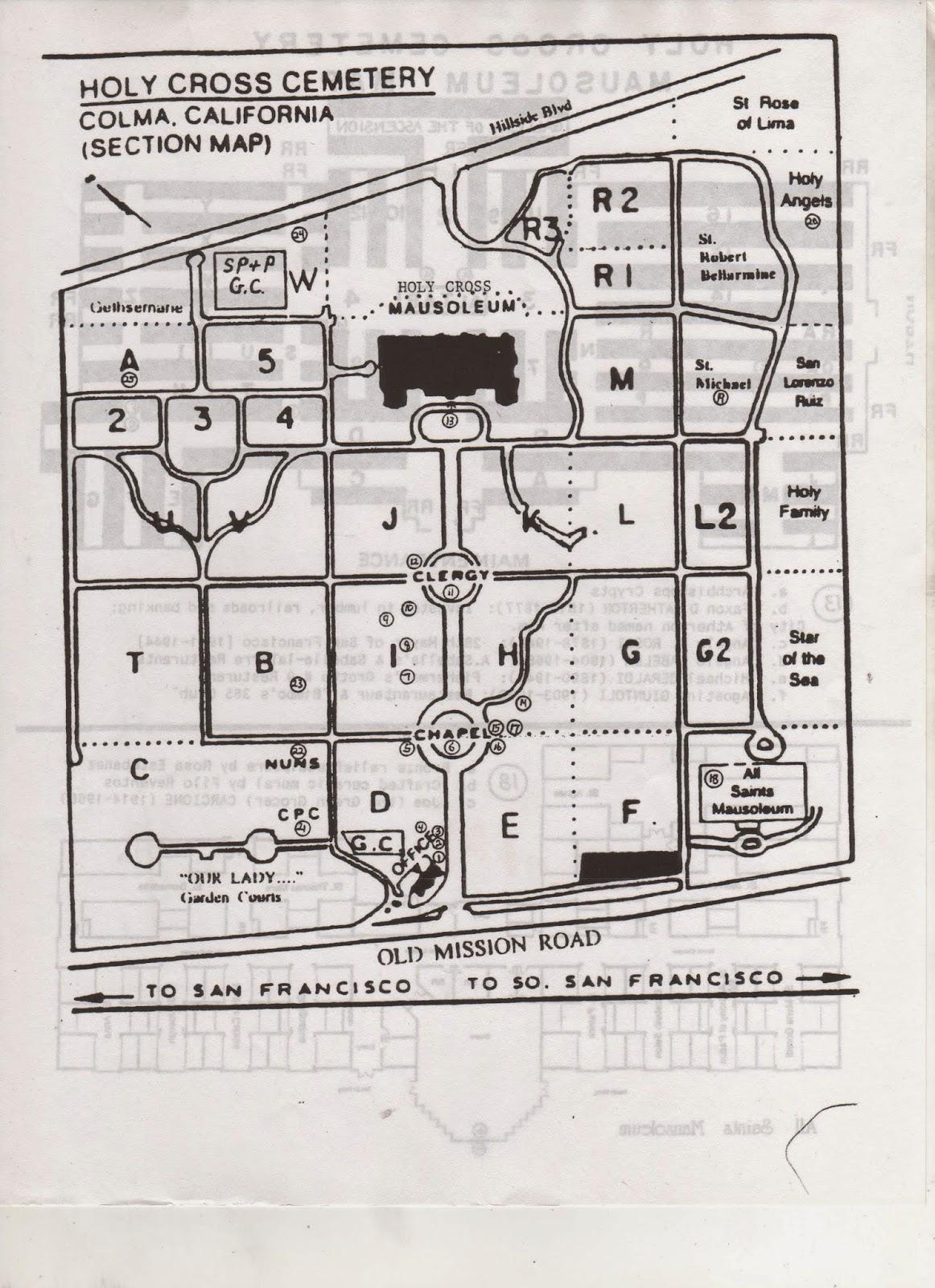 San Mateo County Genealogy Blog: San Mateo County Cemeteries: Holy ...