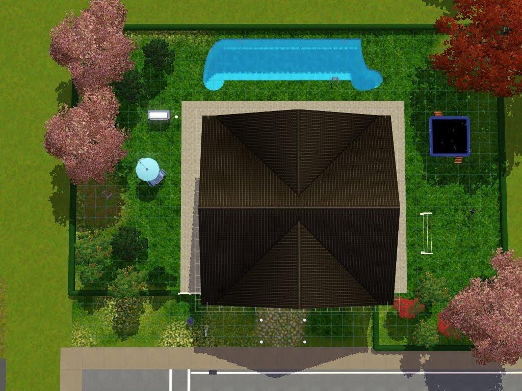 Kiki koy 4 the sims casa 2 piani 4 camere 2 bagni piscina for Piani di casa europei per lotti stretti