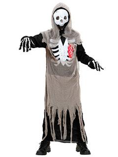 Skelet zombie kostume