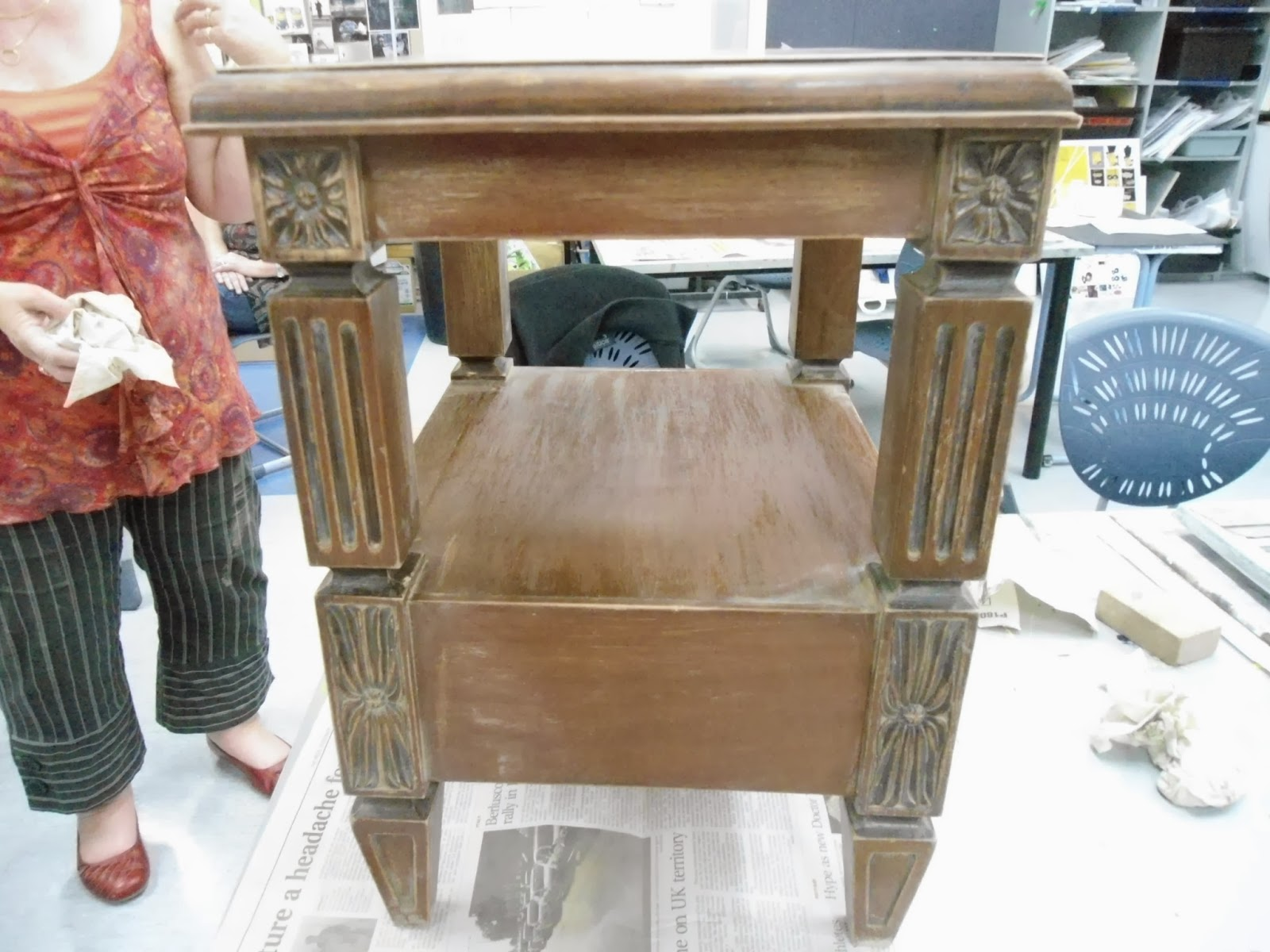 Marijke Everythings Arty The Next Shabby Chic Course Distressing Furniture