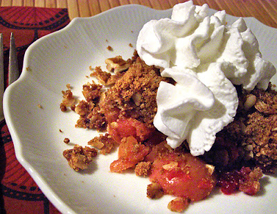 Plate of Cranberry Apple Crisp