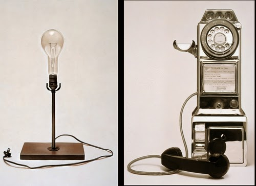 01-Retro-Light-Bulb-and-Payphone-Hyper-Realistic-Oil-Paintings-on-Canvas-William-Fisk-www-designstack-co