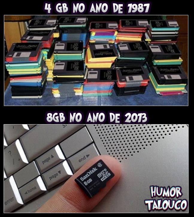 4 Gb em 1987 e 8 Gb agora...