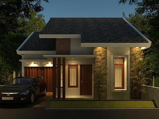 Gambar dan denah Rumah minimalis tampak depan 2013