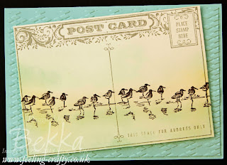Wetlands Post Card by UK based Stampin' Up! Demonstrator Bekka - check out her blog here