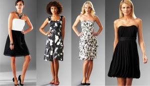 fotos de Vestidos em Preto e Branco