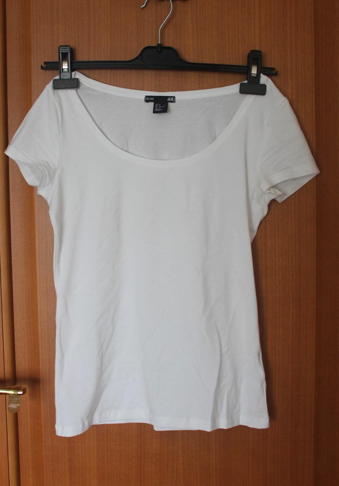 hm beyaz tshirt