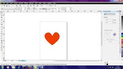 Cara Membuat Vektor Love Valentine di Corel Draw