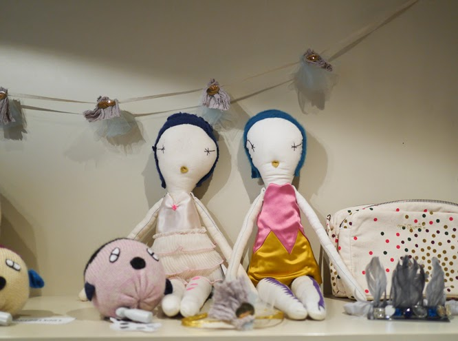 Childrens rag dolls at Couverture and the Garbstore in Notting Hill