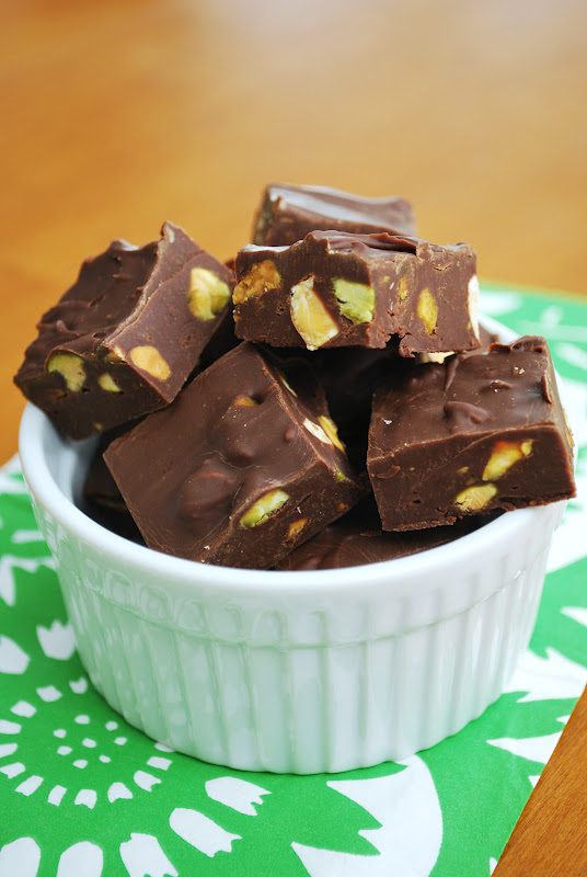 The Capitol Baker: Chocolate Pistachio & Almond Fudge