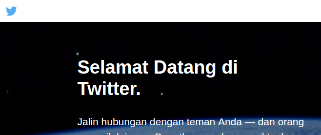 contoh tampilan website www.twitter.com