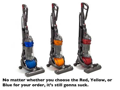 dyson dc25 all floors ball upright vacuum cleaner only hot one day deal