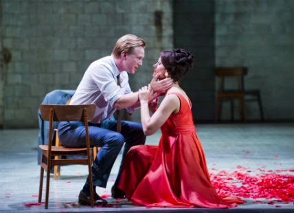 Opera North - Coronation of Poppea - James Laing as Nerone and Sandra Piques Eddy as Poppea. Photo credit: Tristram Kenton