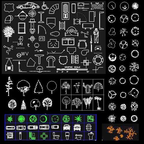 Autocad 2011 simbologias y bloques for Bloques autocad cocina