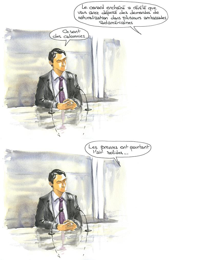 Manuel Valls et le canard enchaîné