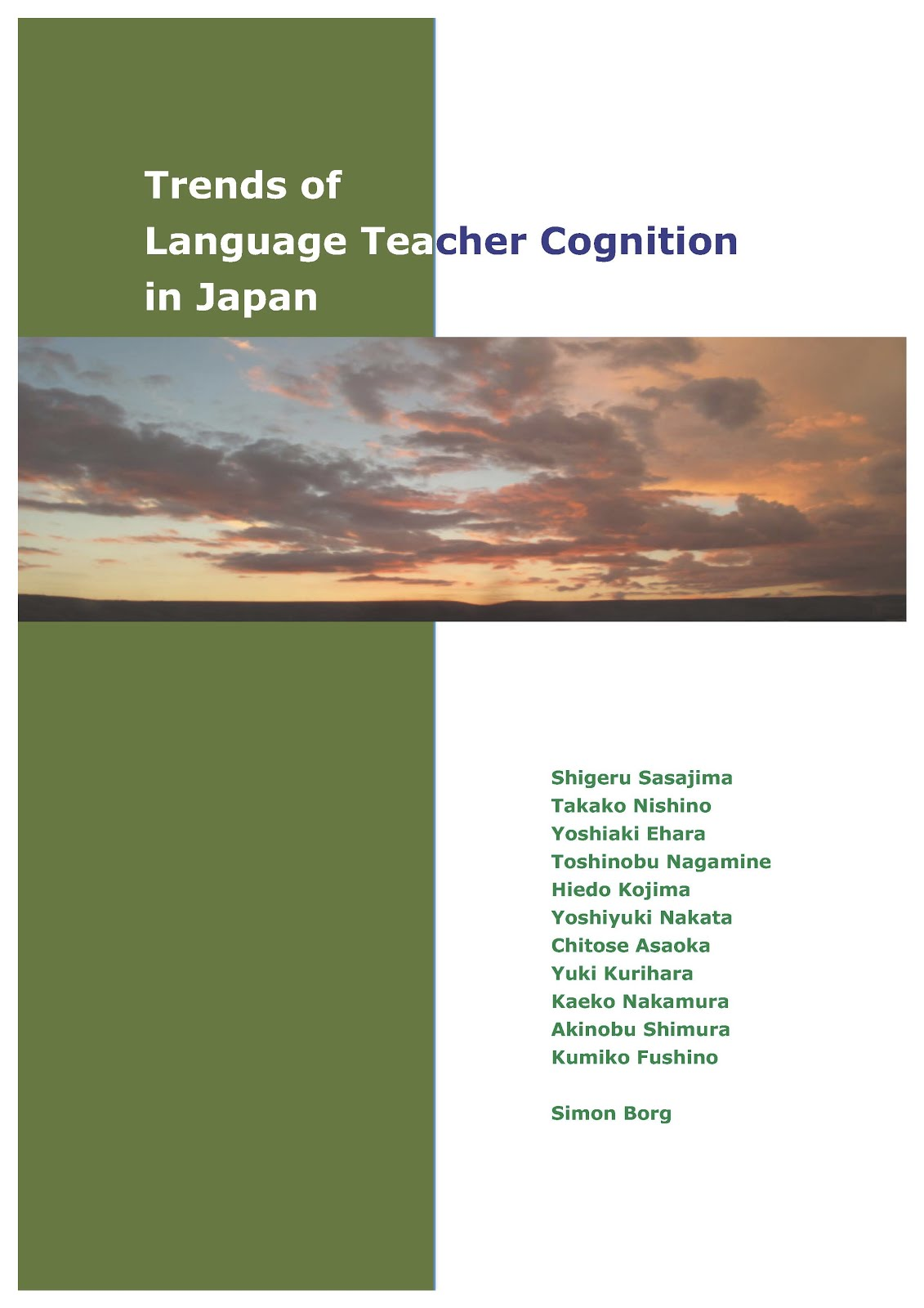 Summary of Trends of Language Teacher Cognition in Japan
