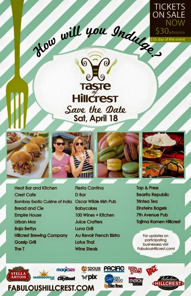 Win 2 Tickets To Taste of Hillcrest