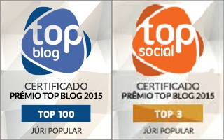 Somos TOP 3 .................... Categoria Social Somos TOP 100 ................... Categoria Blog