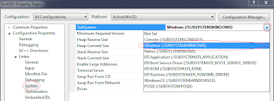 Configuring SDL with Visual Studio 2010