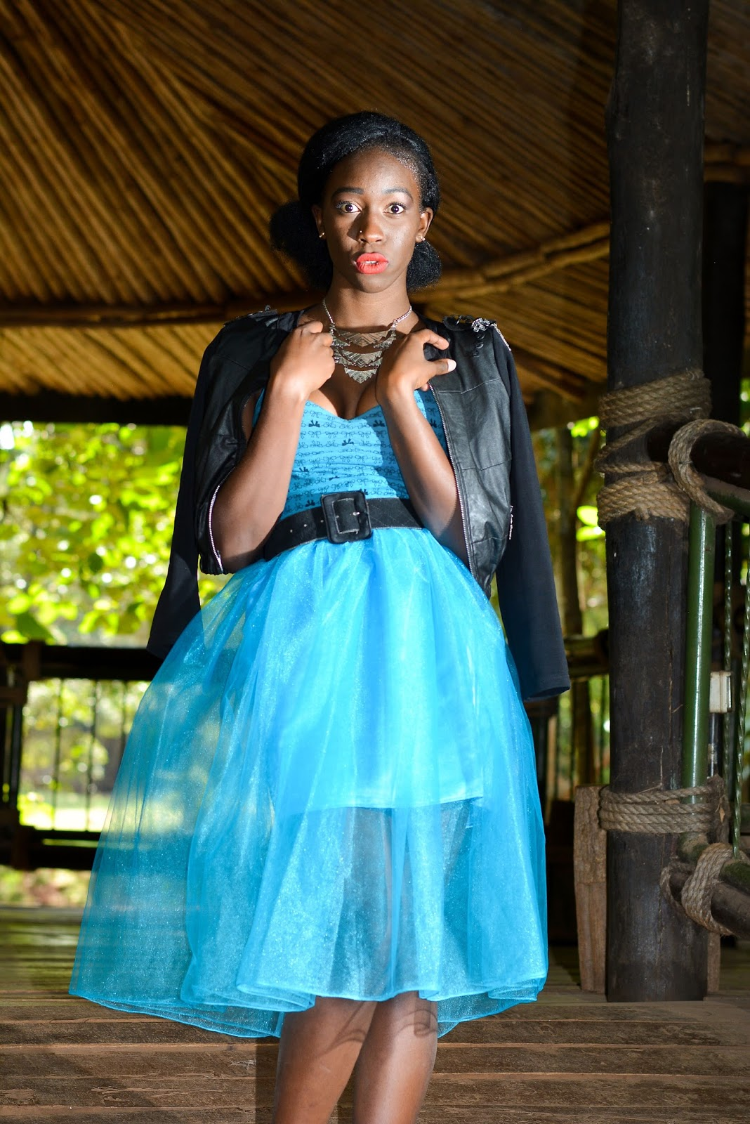 Cinderella, tulle skirts, how to style a tulle skirt, how to wear a tulle skirt, African fashion blogger, Kenyan fashion blogger, Ezil, style With Ezil, faux leather jacket outfit.