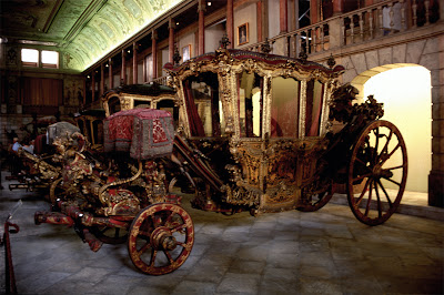 Carruajes del Museo de los Coches en Lisboa