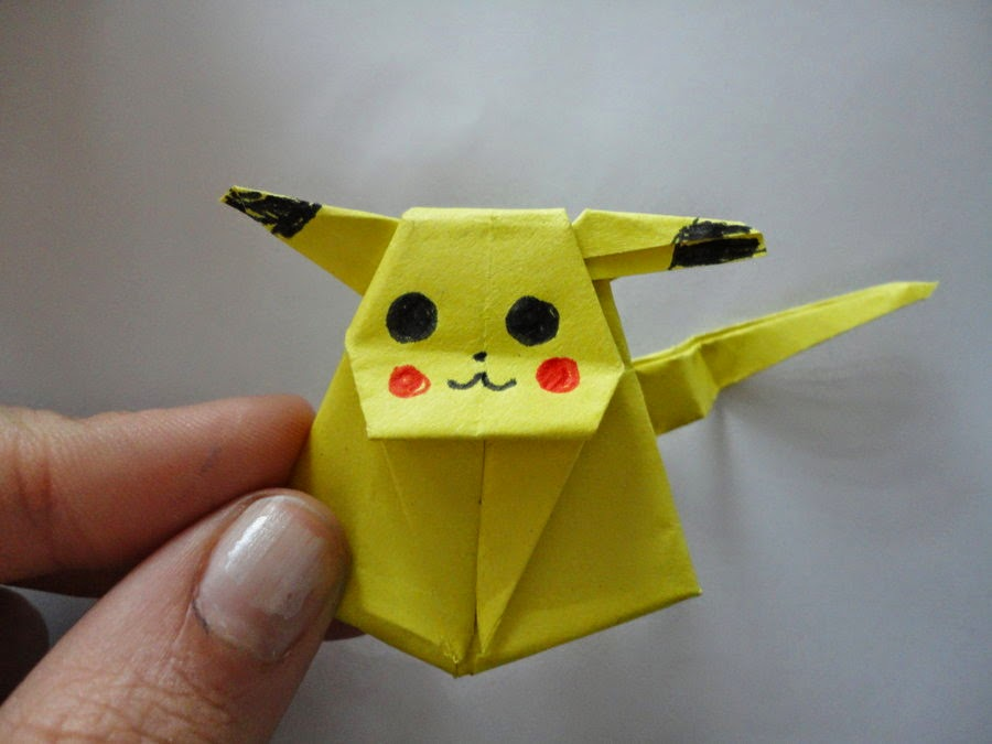 Origami Pikachu Cube 3d For Kids