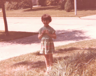 First Day of School 1978 - Lisa in Kindergarten