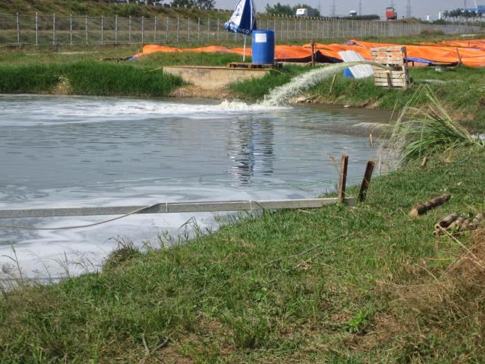 xử lý nước thải ao nuôi