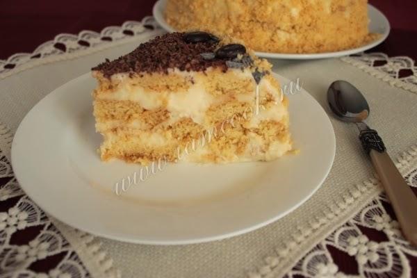 Песочный торт с лимонным кремом
