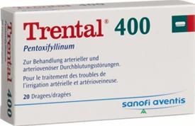 ترنتال 400 ( Trental 400 ) لعلاج حالات قصور الدورة الدموية المخية  .