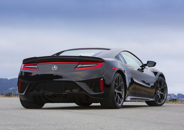 2016 Acura NSX black rear