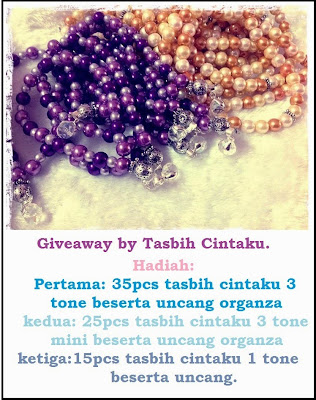 Blogger Giveaway by Tasbih cintaku