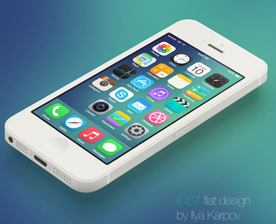 iOS 7 Flat Design by Ilya Karpoy