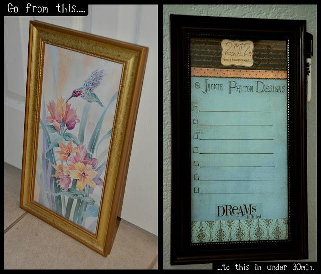 theartgirljackie tutorials dry erase board diy. Black Bedroom Furniture Sets. Home Design Ideas