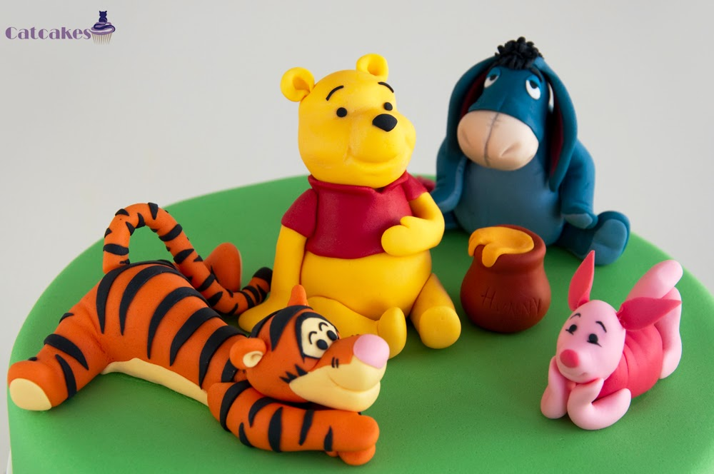 Modelado en fondant Winnie the Pooh