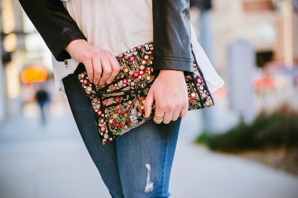 Zara statement clutch | In good faith, Tess