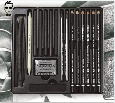 موقع تعلم الرسم - ادوات الرسم انواع اقلام الفحم