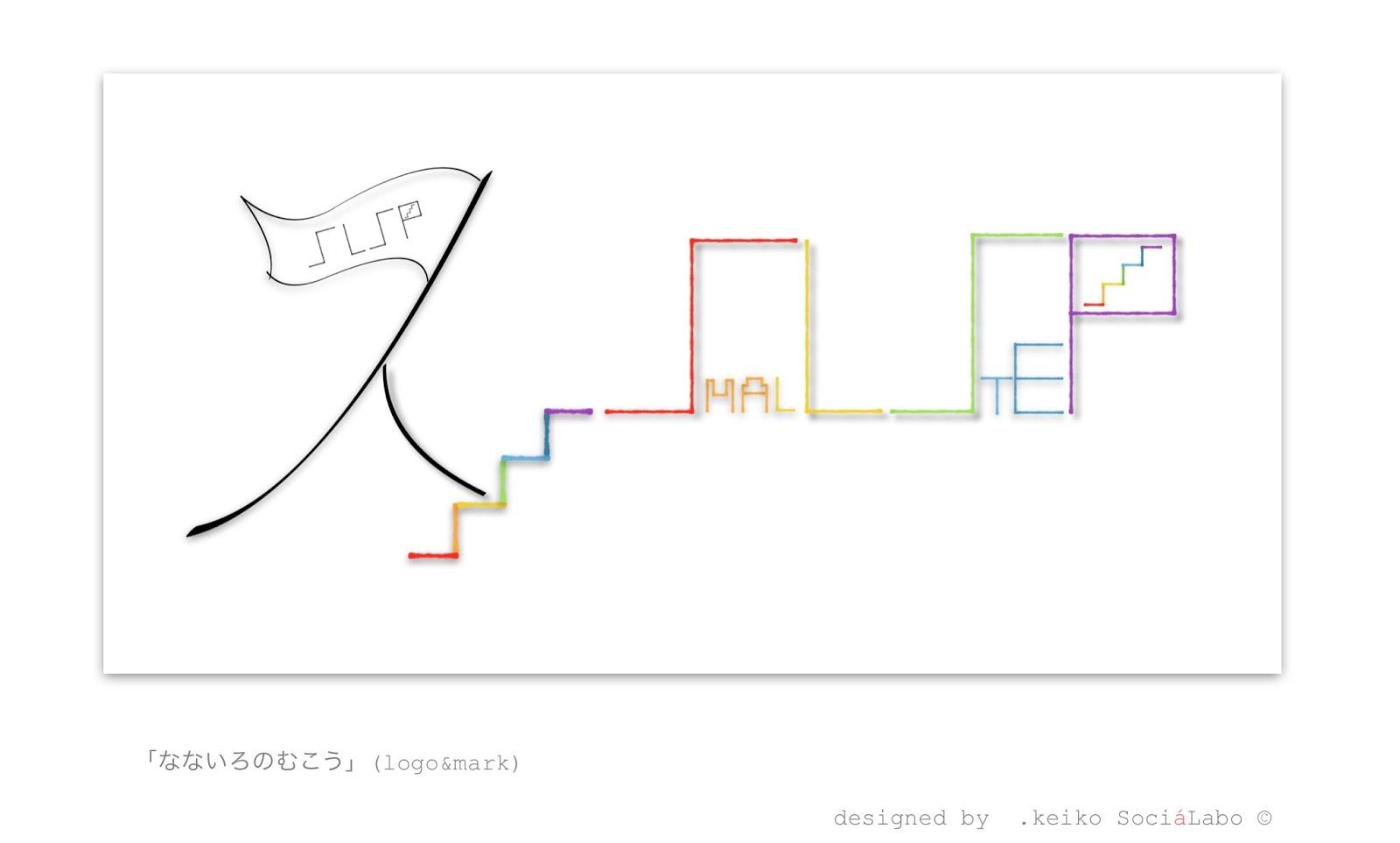 works#16 なないろのむこう(logo&mark)