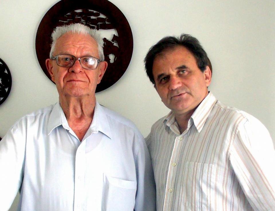 Airton Engster dos Santos e professor Ottmar Scheinflug